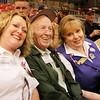 WWII veteran Edward Richard with event organizers Debbie & Pam Chavis.