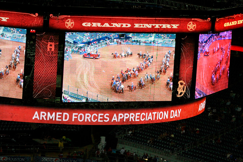 Armed Forces Appreciation Day at the Houston Livestock Show & Rodeo.