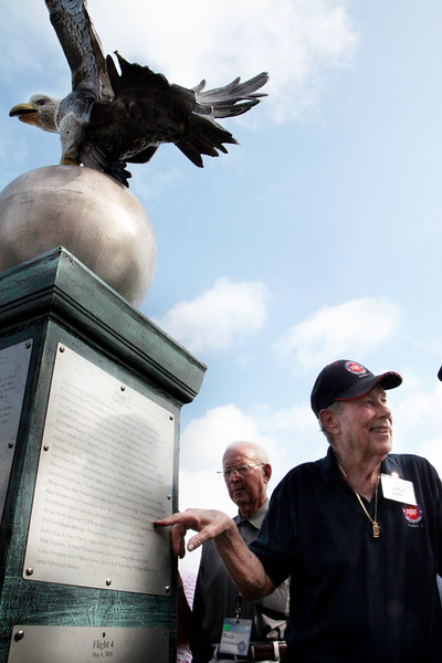 5 Montgomery War Memorial Park. Eagle monument donated by the Rotary Club and Jack McClanahan to honor the 500 veterans of the Lone Star Honor Flight.