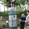 Montgomery War Memorial Park. Eagle monument donated by the Rotary Club and Jack McClanahan to honor the 500 veterans of the Lone Star Honor Flight.