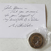 10Sep8 LSHF Challenge coin from George Patton Waters to John Brown 001