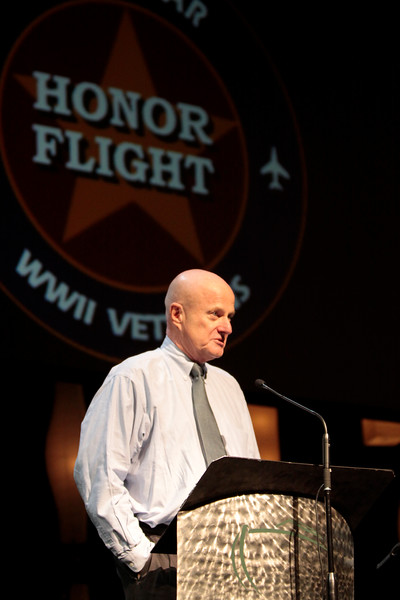 Jack McClanahan, owner of Storage 105, also instrumental in helping with the flights, provides a meeting place each week for the WWII veterans.<br /> <br /> Septembr 11, 2010. Lonestar Honor Flight showing of flight's 4 & 5.