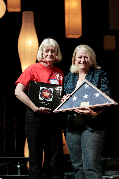 Dolores Morse and Brenda Beavens. The flag was flown over the capitol on May 22 in honor of Brenda Beavens. May 22 was the 5th and last flight.<br /> <br /> Septembr 11, 2010. Lonestar Honor Flight showing of flight's 4 & 5.