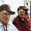 WWII veteran and Pearl Harbor Survivor Bill W. and WWII veteran Ernie G. show off their 21st century style.