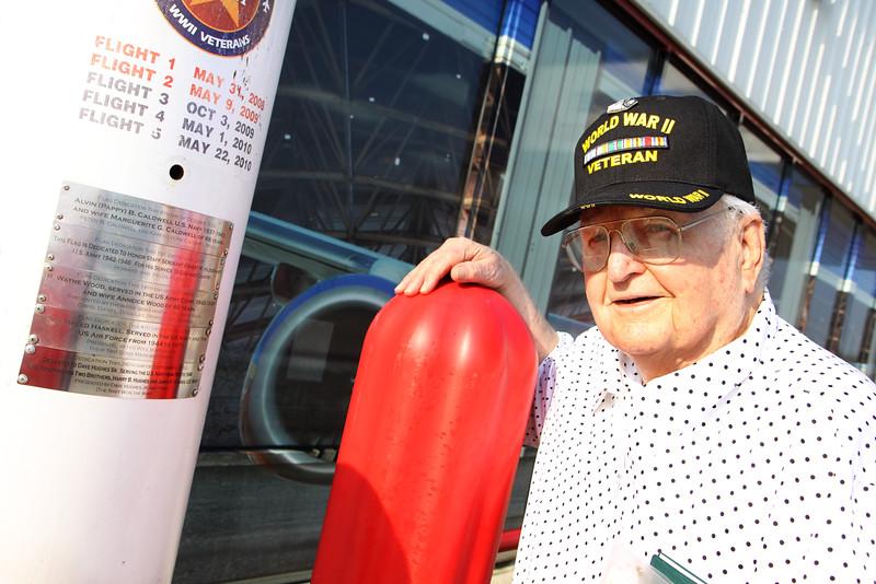 WWII veteran, Pearl Harbor survivor Dave Hughes.