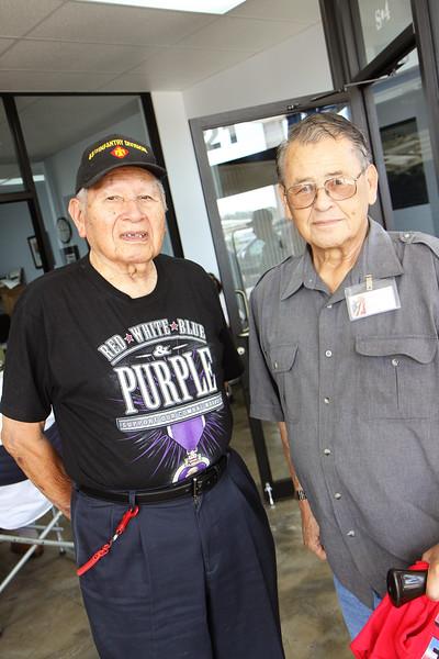 American Indian WWII veteran John B. and American Indian and Korean veteran Bernard B