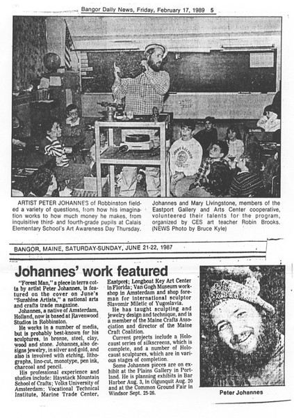 Peter gives a Lecture to young students - 1987