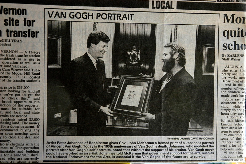Presentation to the Governor of Maine - 1990