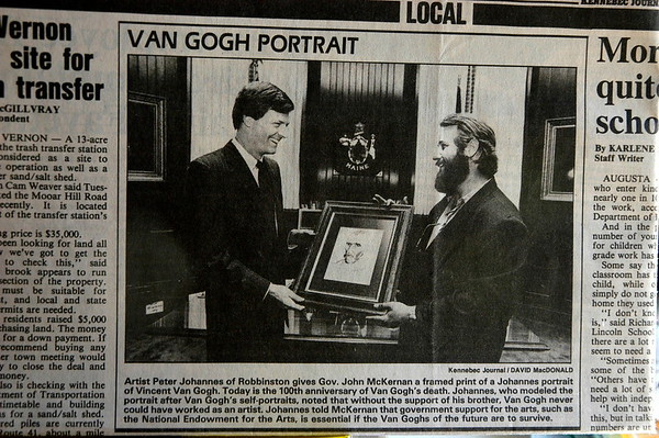 Presentation to the Governor of Maine - 1990