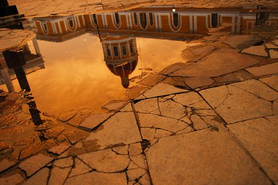 Reflection of the Cathedral of Granada