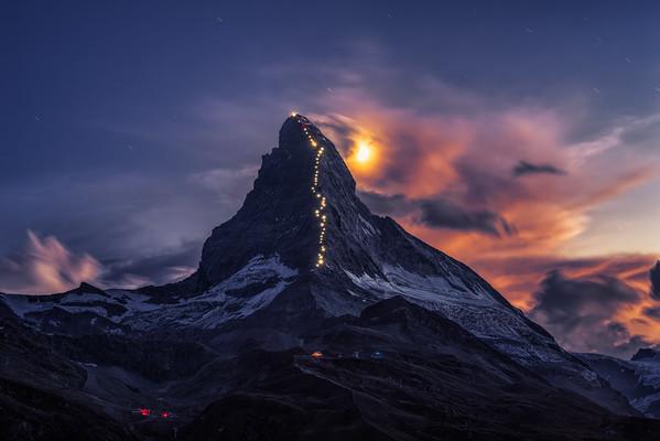 Matterhorn star trail