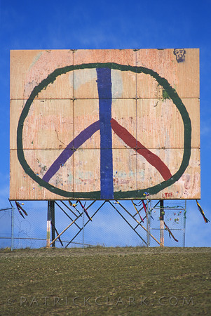 Old Peace Sign on waterworks hill, Missoula,Montana