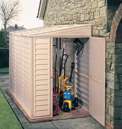 4'x8' Sidemate door open with supplies