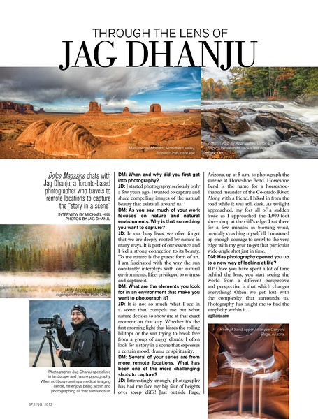 Dolce : Through the Lens of Jag Dhanju