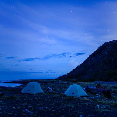 Big Dipper and Tents in Pre-Dawn Light - The Lost Coast, CA