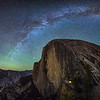 Tent Beneath Half Dome and Milky Way - Yosemite National Park, CA