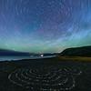 North Star Trails Over Meditation Labyrinth - The Lost Coast, CA