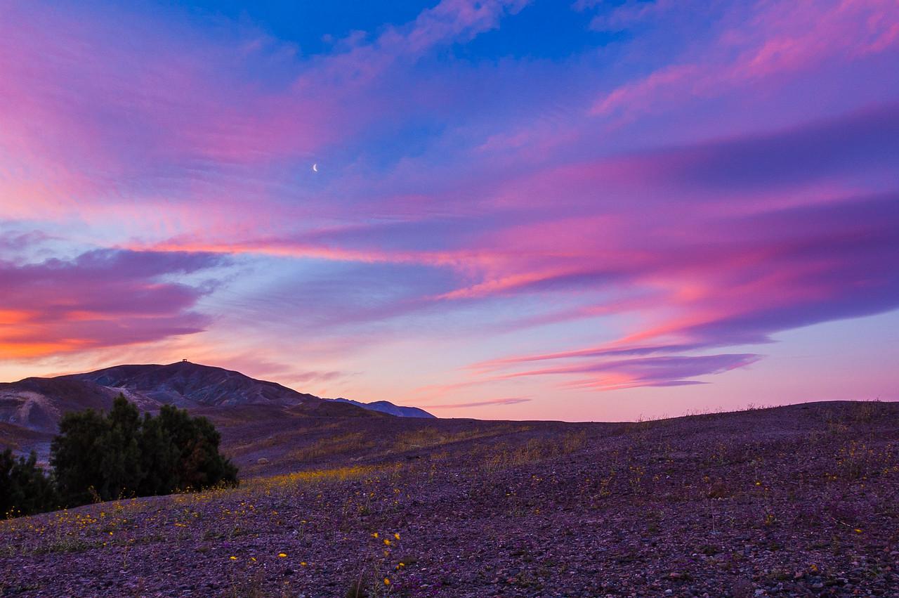 Moonrise at Sunrise - Death Valley National Park, CA