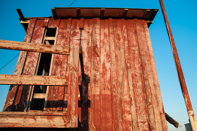 Aged Red Building