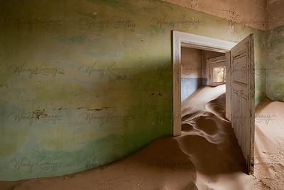 Green Room-Kolmanskop, Namibia