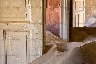 Sand and Doorways- Kolmanskop, Namibia