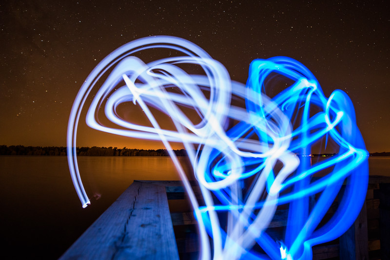 Lake Chicot Light Painting 1