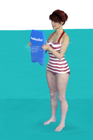 Shoulder Press with Kickboard