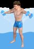 Side arm raises with dumbbells