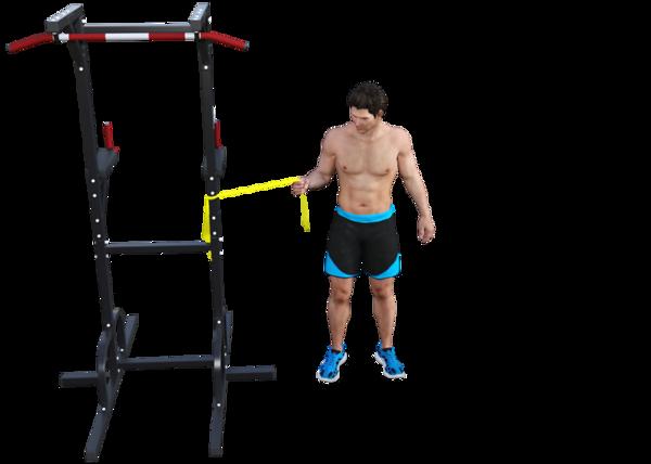 Shoulder Internal rotation with Opposite Leg Internal rotation (start)