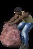 Worker Pulling Rock