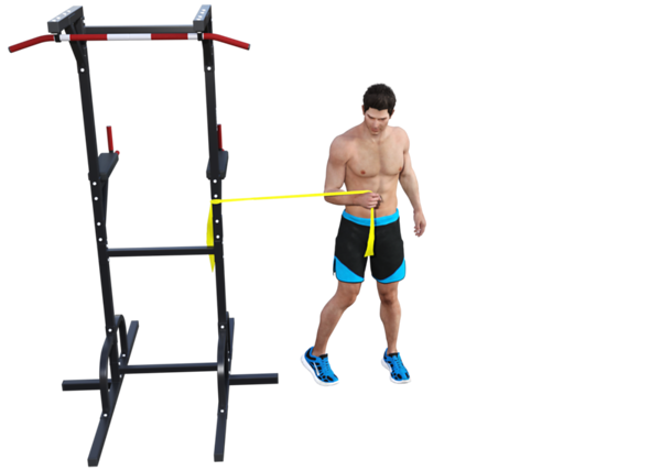 Shoulder Internal rotation with Opposite Leg Internal Rotation (finish)