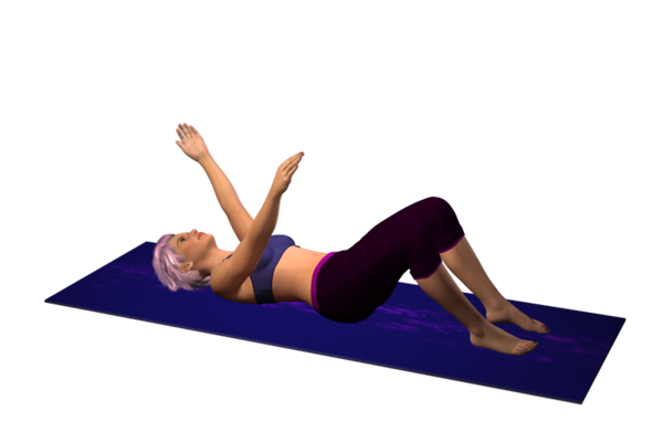 Supine Alternate Arm Raises