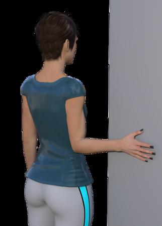 Shoulder External Rotation stretch in adduction