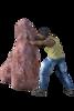 Worker Pushing Rock