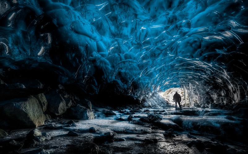Under the Mendenhall Glacier