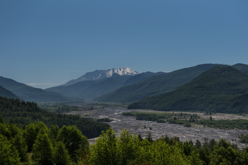 Mount St. Helens and surrounding area.