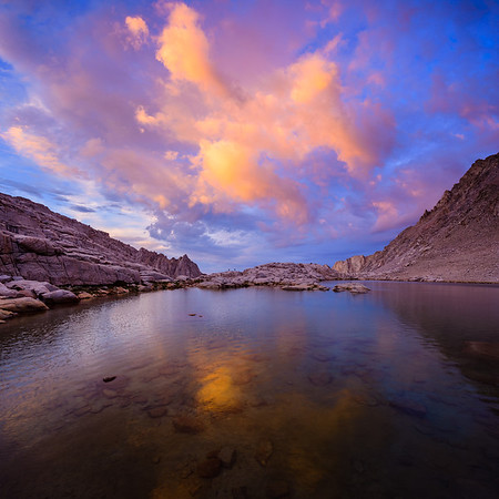 Consultation Lake at sunset, Sierra Nevada, California