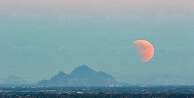 Supermoon Eclipse Over Phoenix, AZ