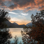 A framed sunset in Lake Barrea, Abruzzo