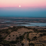Alqueva Lake seen from the incredibly beautiful town of Monsaraz.<br /> <br /> Alentejo, Portugal