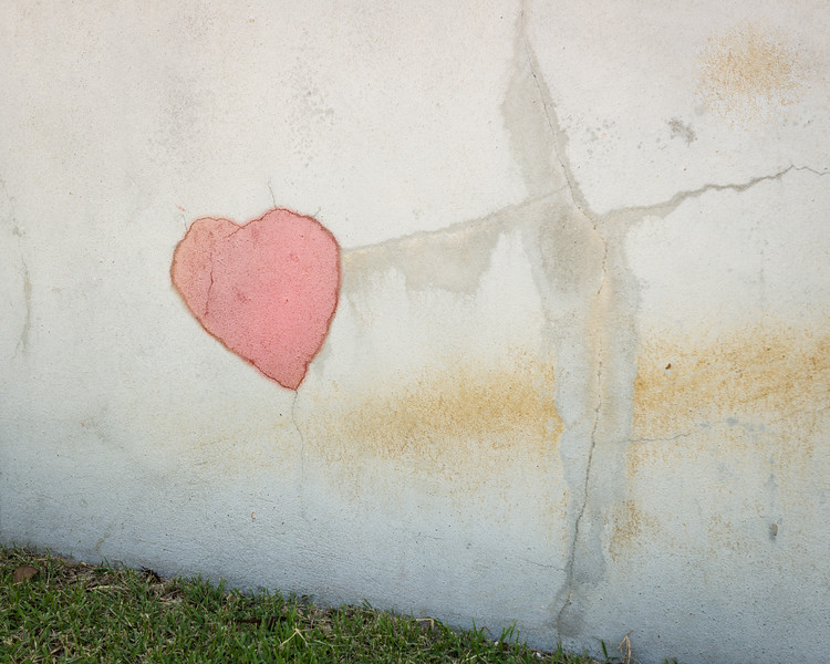 Plaster Cracks with Heart