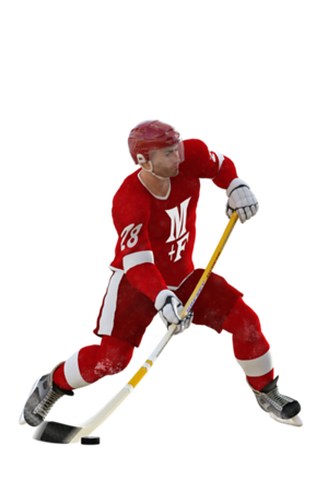 Hockey Player Slap Shot
