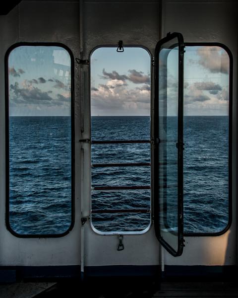 Three Portholes to the Sea