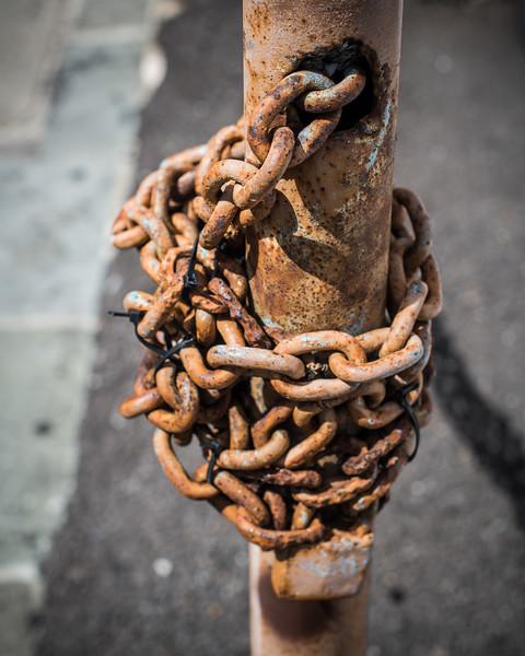 Locked Chain Post
