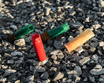 Shotgun Shells In Gravel