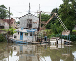 Submerged Shrimp Boat