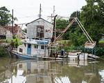 Submerged Shrimp Boat