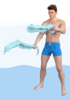 Alternating Wave / Alternating front arm raises with towels