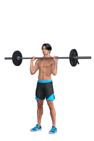 Barbell at Shoulder Level
