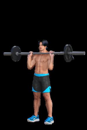 Barbell at Shoulder Level